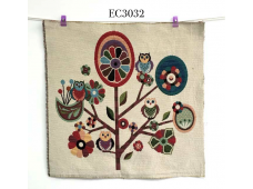 """EC3032 Embroidery stitches Canvas""""Owl On Branches"""""""