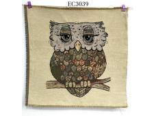"""EC3039 Embroidery stitches Canvas""""Glamour Owl"""""""