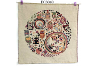 "EC3040 Embroidery stitches Canvas""Sweet owl Land"""