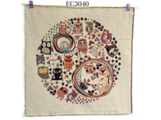 """EC3040 Embroidery stitches Canvas""""Sweet owl Land"""""""