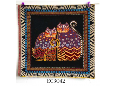 """EC3042 Embroidery stitches Canvas""""Couple Of Cats"""""""