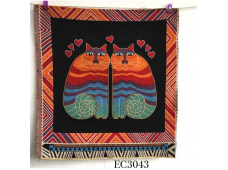 """EC3043 Embroidery stitches Canvas""""In Love Kitty"""""""