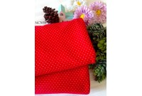 "NC3058 Jersey Knit Cotton""Chili Red Mini Dot"""
