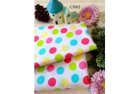C3062 Cotton *Soft Pastel Polka Dot*
