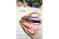 Rw330 Colourful Korean braided velvet Wristlet