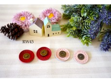 Rw43 Magnet Button With Genuine leather Base