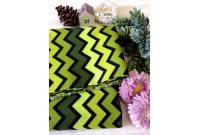 "C3086 Designer Brand Cotton ""Green Tone Chevron"""