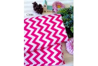 "C3088 Designer Brand Cotton ""Deep Pink 10mm Chevron"""