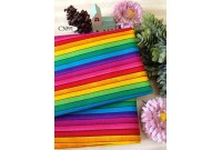"C3091 Designer Brand Cotton ""Rainbow Colourful Stripe"""