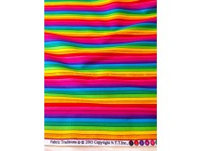 "C3091 Designer Brand Cotton ""Rainbow Colourful Stripe""(Defect)"