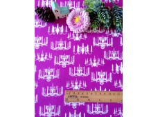 "C3092 Designer Brand Cotton ""Purple Base Chandelier Light"""