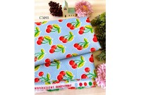 "C3093 Designer Brand Cotton ""Blue Base Cherry"""