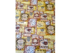 "C3095 Designer Brand Cotton ""Uncorked Wine Labels"""