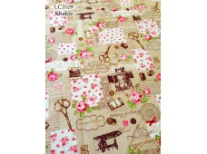 "LC3109 Blended Linen Cotton""Vintage Sawing Material"""