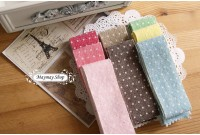 L235 Wash Linen 8 Color polka Dot Bias Tape