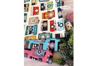 "JLC3130 Blended Linen Cotton""Vintage Camera"""