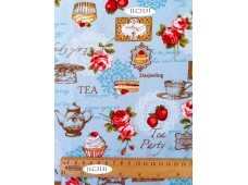 "JLC3131 Blended Linen Cotton""Tea Party"""