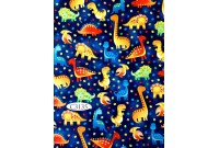 "C3135 Designer Brand Cotton ""Dinosaur Walk All Over""(Defect)"