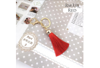 Rw338H Red Colour Antique Golden Rings Tassel