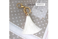 Rw338G White Colour Antique Golden Rings Tassel