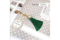 Rw338F Green Colour Antique Golden Rings Tassel