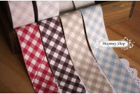 L84 Check Linen Cotton Bias Tape (4cm)