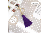 Rw338E Purple Colour Antique Golden Rings Tassel