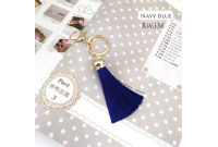 Rw338D Navy Blue Colour Antique Golden Rings Tassel