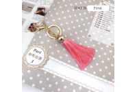 Rw338C Pink Colour Antique Golden Rings Tassel