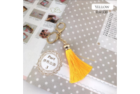 Rw338B Yellow Colour Antique Golden Rings Tassel