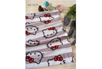 "NC3137 Jersey Knit Cotton""Hello Kitty Face+Stripe"""