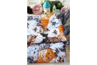 "C3153 Designer Brand Cotton ""Cat Face Pet"""