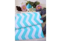 "C3156 Designer Brand Cotton ""Tiffany Chevron"""