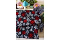 "C3157 Designer Brand Cotton ""Snowflake In Black"""