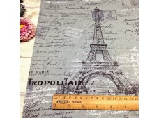 "C2528 Designer Brand Cotton""Eiffel Tower & Scripts"""