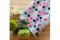 "C2552 Designer Brand Cotton""Aqua Series Polka Dot"""