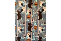 "C3216 Designer Brand Cotton ""Animals In Tree's"""