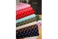 KLC2078 Light Canvas*White Polka Dot Series*