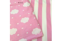 BC3242 Twill Cotton *Pink Stripe & Cloud*