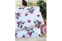 "CF3104 Cotton Flannel ""Panda & Cup Cake"""