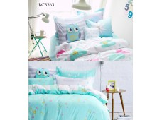 BC3263 Twill Cotton Panel*Cute Blue Owl*