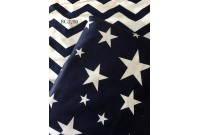 BC3280 Twill Cotton *Navy Chevron & Star*