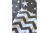 BC3281 Twill Cotton *Grey Chevron & Star*