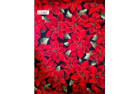 "C3287 Designer Brand Cotton ""Poinsettia"""
