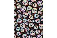 "C3292 Designer Brand Cotton ""Colourful Love Skull"""