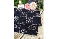 "ZC3294 Designer Brand Cotton ""Black Sakura Lattice"""