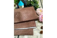 "C3296E Designer Brand Cotton ""Brown Scale"""