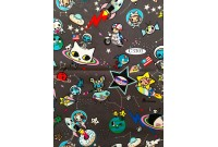 "C3303 Designer Brand Cotton ""Cute Animal Space"""