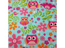 "C2500 Designer Brand Cotton""Blossom,Vine With Owl"""