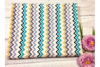 "ZC2427 Designer Brand Cotton""Blue Tone Chevron"""
